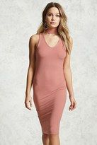Forever 21 FOREVER 21+ Ribbed Knit Cutout Dress