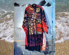 Hand Painted Mardi Gras Art Jacket Coat L XL by BohemianPassions