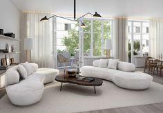 modern interiors oscar properties via Plastolux.