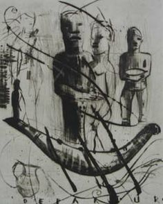 """'Ulysses III' (2003) from the """"Ulysses Series"""" by South African artist Deborah Bell (b.1957). Etching, sugarlift & aquatint, edition of 40, 24.7 x 21 in. via David Krut Projects"""