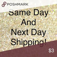 Same Day & Next Day Shipping! This Closet offers same Day and next day shipping always during Monday-Friday! Purchases made on Saturday and Sunday will go out first thing Monday morning guaranteed! Shop with confidence! Other