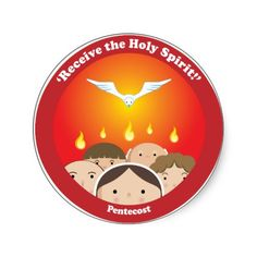 Shop Holy Spirit Pentecost Classic Round Sticker created by happysaints. Holly Spirit, Holy Spirit Come, Receiving The Holy Spirit, Altar Design, Chibi, Catholic Religion, Spirited Art, Easter Activities, Religious Education