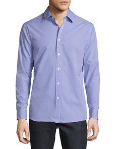 Andre Slim-Fit Check Sport Shirt, Light Purple - Michael Kors