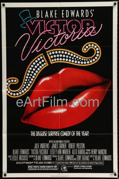 Happy Birthday #BlakeEdwards https://eartfilm.com/products/victor-victoria-julie-andrews-james-garner-blake-edwards-henry-mancini-27x41-1982 #directors #directing #screenwriters #screenwriting #filmmakers #Broadway #theater #movie #movies #poster #posters #film #cinema #movieposter #movieposters    Victoria-Julie Andrews-James Garner-Blake Edwards-Henry Mancini-27x41-1982