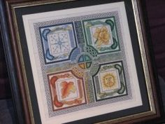 Great tutorial on DIY framing for your cross stitch creations.