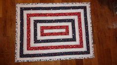 Quilted and Finished Patriotic Table Mat by Quiltbuilders on Etsy