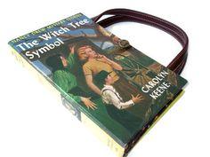 Book Purse Nancy Drew The Witch Tree Symbol Book Handbag Upcycled Book Bag Vintage Book Purse