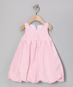 Pink Gingham Bubble Dress - Infant, Toddler & Girls | Daily deals for moms, babies and kids