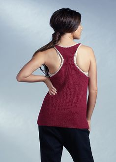 Vest Top pattern by Quail Studio Vest Pattern, Top Pattern, Quail, Ravelry, Cami, Athletic Tank Tops, Studio, Knitting, Sweaters