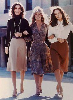 Kate Jackson, Farrah Fawcett, Jaclyn Smith in'Charlie's Angels'.