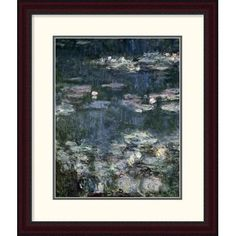 Global Gallery 'Nymphéas - Water Lilies (Detail)' by Claude Monet Framed Painting Print Size: