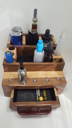 ORDER NOW for Christmas        E Cigarette ECig   Vape  Wood Organizer Stand by WoodArtBoxes