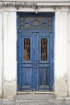 Vintage Doors | old-blue-door-w-lock.jpg blues, doors, doors & windows, europe, greece ...