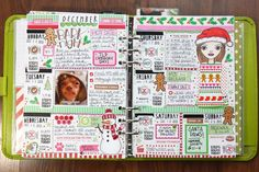 Decorated planner page by Michelle aka QuirkyHeart