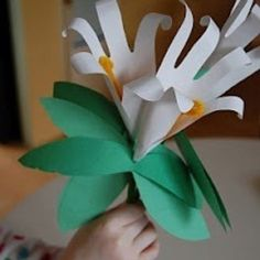 Paper Easter lilies