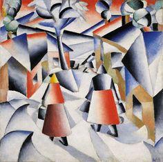 Kazimir Malevich,Morning in the Village after Snowstorm (Utro posle v'iugi v derevne), 1912. Oil on canvas, 31 1/2 x 31 1/2 inches (80 x 80 cm). Solomon R. Guggenheim Museum, New York 52.1327