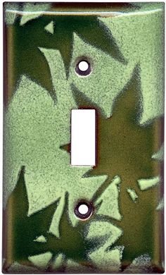 JAPANESE MAPLE LEAF Green Switch Plate
