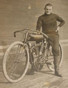 Board Track Racer. Love the sweater.