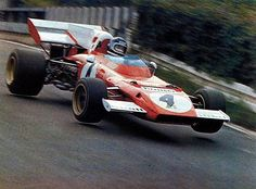 1972, XXXIV Grosser Preis von Deutschland. Nurburgring. Ringmaster Jacky Ickx flying in the Ferrari 312B2 to his 2nd win at Nurburgring.  This is the Ickx's last victory in F1