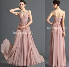New Long Chiffon Evening Prom Formal Gown Ball Party Cocktail Bridesmaid Dress  | Clothing, Shoes & Accessories, Wedding & Formal Occasion, Bridesmaids' & Formal Dresses | eBay!