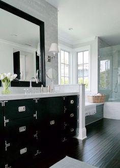 Black bath vanity