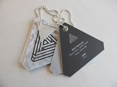 triangle swing tag **** I like the multiple tags ****