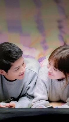 The best feeling is when i look at you and you are already staring....... #Descendants Of The Sun