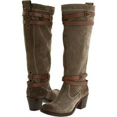 OK, I'm torn between this FRYE JANE STRAPPY riding boot in Fatigue Suede/ Veg Tan & the one in Charcoal Tumbled Leather Full Grain & the one in Dark Brown Tumbled Leather Full Grain...... what to do? At $358.00, I don't see me getting all 3! :(