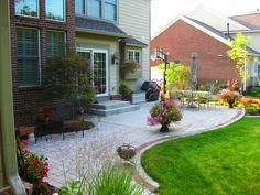 Extend Concrete Patio With Pavers, Backyard Concrete Patio Ideas ...