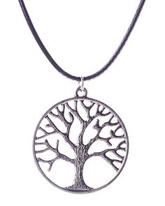 Young  Forever Girls Tree of Life Charm Tibetan Silver Toned Pendant Choker Necklaces >>> See this great product.