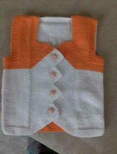 Baby Knitting Patterns, Knitting Designs, Baby Patterns, Knit Vest, Baby Cardigan, Boys Sweaters, Moda Emo, Bargello, Double Knitting