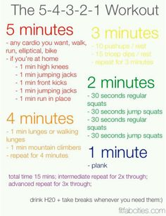 The 5-4-3-2-1 Workout by fitfabcities.com