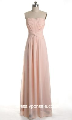 Long Bridesmaid Dresses  Sweetheart Chiffon Bridesmaid Dress DVP0095