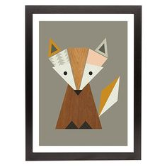 Geometric Fox Framed Print 35x45cm from Freedom at Crossroads Homemaker Centre - perfect in a kids room!