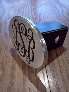 Monogram hitch cover by BrassellDesigns on Etsy, 55.00