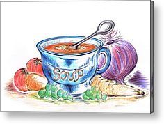 Country Soup Metal Print by Teresa White