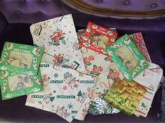 Very Vintage Christmas Gift Wrap And Stickers For by rustysecrets, $20.00
