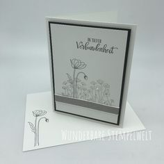 Stampin Up Karten, Karten Diy, Stampin Up Cards, Quick Cards, Diy Cards, Sympathy Cards, Stamping Up, Poppies, Card Making