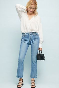 Paige Collette High-Rise Cropped Flare Jeans Fashion For Women Over 40 bf20ad296