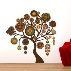 Adesivo de Parede - Árvore Penduricalhos - 206ar