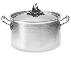 Ruffoni Opus Prima Hammered Stainless-Steel Stock Pot #williamssonoma This is Beautiful