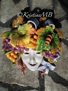 Ceramic Bacchus Mask -- looked down on memorable gatherings at home in Monument/Black Forest. Will be part of a few pages capturing those memories. Now he's ready for a new home!