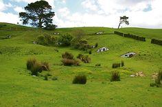 Hobbiton, en Nueva Zelanda  #nuevazelanda #elhobbit #newzealand