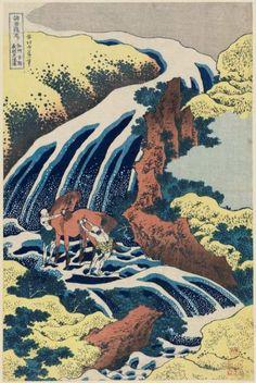 Yoshitsune Falls; Hokusai, Edo Period