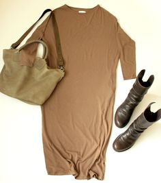 Long dress from Meinrad Young with Ellen Truijen bag and Fiorentini + Baker boots