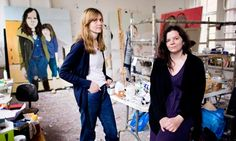 'Nobody is ever what you imagine them to be' … painter Chantal Joffe (right) with Megan Watkins.  Photograph: Felix Clay for the Guardian