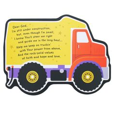 Under Construction Truck Plaque | The Catholic Company Under Construction Theme, Construction Crafts, Catholic Company, Prayers For Children, Cabin In The Woods, Crafts For Boys, Sunday School Crafts, Wood Plaques, Hand Shapes
