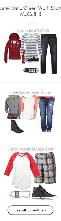 """veterization(Teen Wolf)(Scott McCall)(I)"" by nessiecullen2286 ❤ liked on Polyvore featuring R13, Abercrombie & Fitch, Monsoon, Converse, Dockers, Uniqlo, NIKE, H&M, Superga and Bric's"