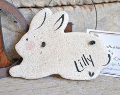 Personalized Easter Bunny Decorations Salt Dough Rabbit Ornament