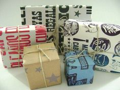 Letterpress Silver Stars Wrapping Paper by vivalapress on Etsy, $6.00